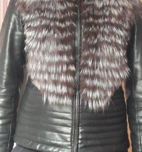 Куртка-жилетка с мехом