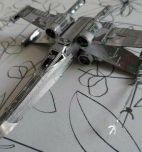 3D металлический конструктор (модель x-wing)
