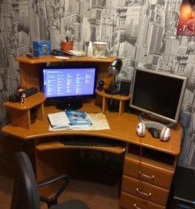 Шкаф, компьютерный стол, тумбочка, полка, стеллаж