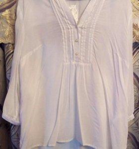 Новая белая блузка 52