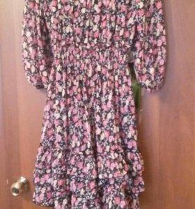 Платье шифоновое с подкладом