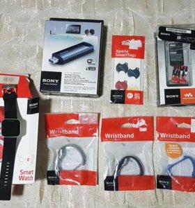 Sony гаджеты: Часы Sony SmartWath, браслеты, плеер