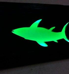 Акула. Световое панно.