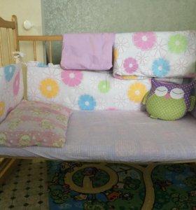 Кроватка детская + кокосовый матрас