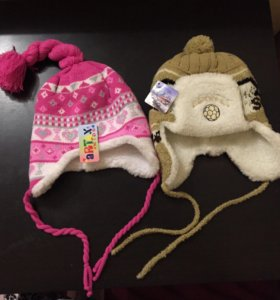Новая теплая зимняя детская шапка
