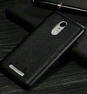 Кожаный чехол бампер для Xiaomi Redmi Note 3 Pro