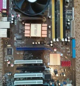 Продам Asus p5kpl /1600 с процессором и кулером