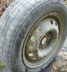 4 колеса на зимней резине
