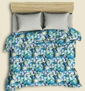 ПолуЛьняное постельное белье evro