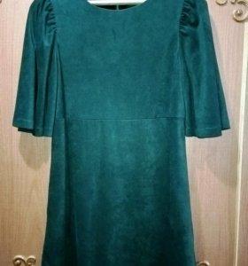 Платье под замшу р.44-46