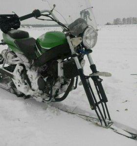 Переделка мотоцикла в снегоход