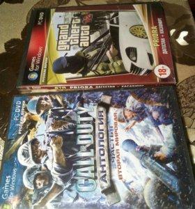 2 диска Call of Duty 4 части и GTA San Andreas