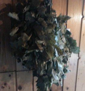 веники дубовые и канадский дуб,береза