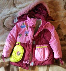 Зимний костюм на девочку 116 р-р