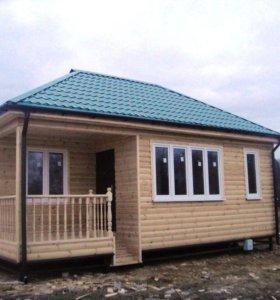 Дачный домик 8х5 для зимнего проживания