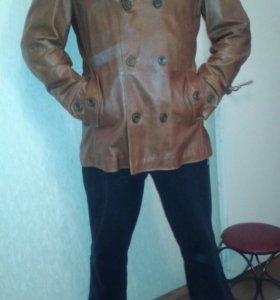 Новый французский кожаный пиджак