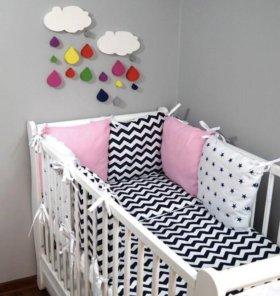 Бортики, бамперы в детскую кроватку