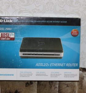 D-Link DSL-2500U ADSL2/2+ Ethernet Router