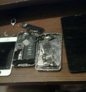 Запчасти на айфон 5,4s и дисплей на планше