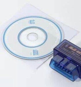 Блютуз сканер Bluetooth адаптер OBD2 ELM327 v2.1