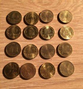 Юбилейные монеты x5