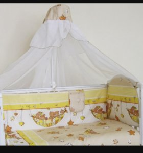Комплект в кроватку, бортики,..