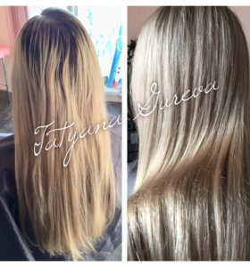 Окрашивание блонды
