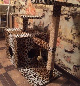Кошкин домик с когтеточкой