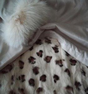 Пальто с подкладкой из натурального меха(кролик)