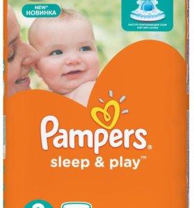 подгузники Pampers Sleep/Play 3(5-9кг) 100шт