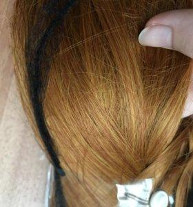 Волосы на заколке, трессы