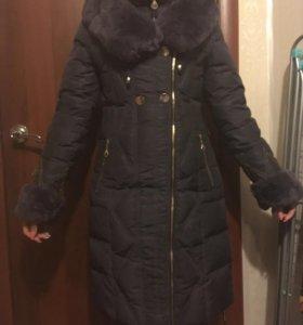 Зимняя куртка с натуральным мехом (кролик)