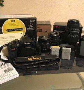 Фотоаппарат Nikon d3400 kit + 50mm 1.8 + 70-300