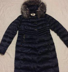 Пуховик с капюшоном Пальто зимнее с чернобуркой