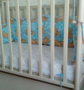 Кровать детская  маятник +ящик