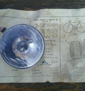 Вело фара, динамо генератор, фонарь задний
