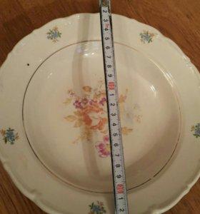 Тарелка Глубокая СССР 23 см Старинная