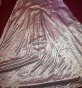Новая длинная серебряная юбка 44-46