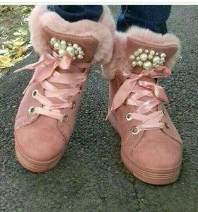 Теплые ботинки! Новые!