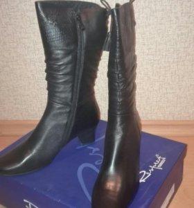 Кожаные сапоги женские демисезон р.37 новые