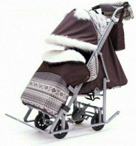 Санки коляска. Скандинавия 5УМ Люкс + ВК