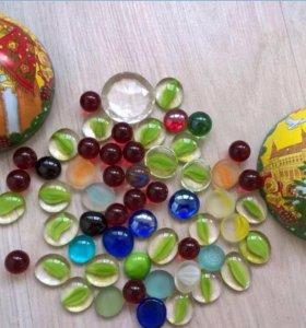 Стеклянные шарики для декора и аквариумов