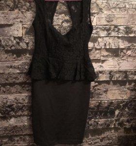 Вечернее платье с баской