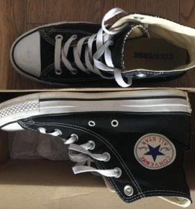 Converse кеды чёрные новые
