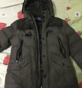 Зимняя куртка. Мужска. Размер 48-50 БУ. Искуственн