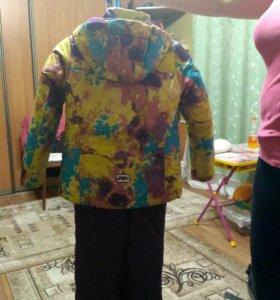 Детский теплый комбинезон с курткой