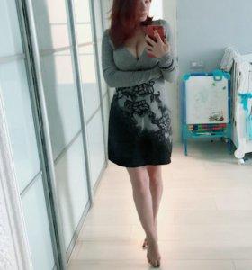 Трикотажное платье 42-44 р