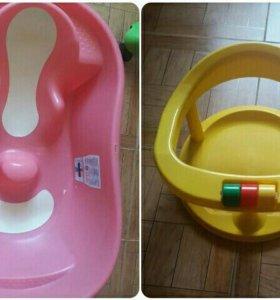 Ванночка Ok Baby и стульчик для купания в подарок