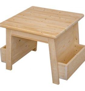 Деревянные детские столы с «карманами»
