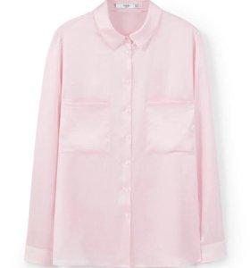 Новая розовая рубашка mango 42-46 S-M